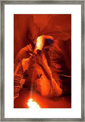 Framed Print featuring the photograph Antelope Canyon by Tom Kelly
