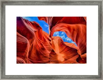Antelope Canyon Walls Framed Print by Greg Norrell