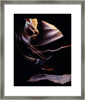 90115 Antelope Cyn Cave Close-up Framed Print