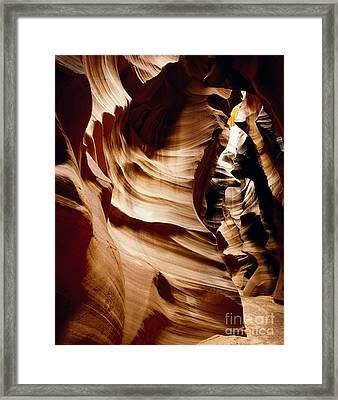 Antelope Cyn Cave Full View Framed Print by Erik Poppke