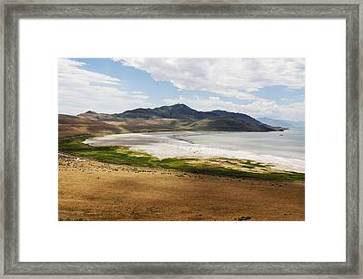 Framed Print featuring the photograph Antelope Island by Belinda Greb