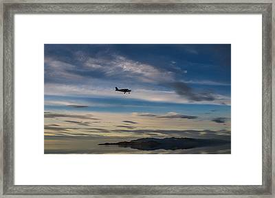 Framed Print featuring the photograph Antelope Island - Lone Airplane by Ely Arsha