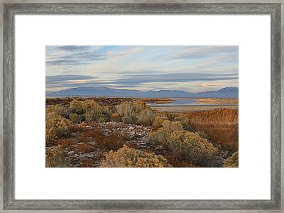 Framed Print featuring the photograph Antelope Island - Scenic View by Ely Arsha