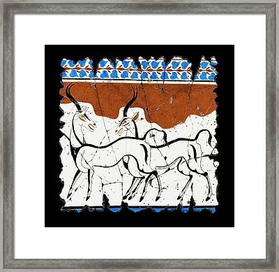 Antelope Of Akrotiri Framed Print