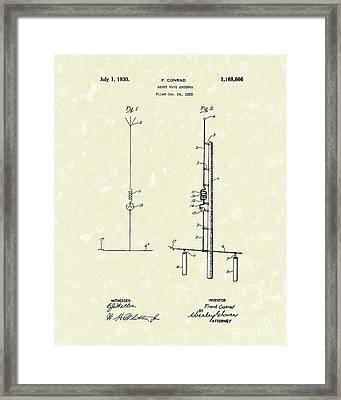 Antenna 1930 Patent Art Framed Print