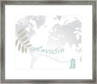 Antevasin Framed Print by Cindy Greenbean