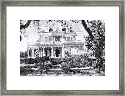 Anthemion At 4631 St Charles Ave. New Orleans Sketch Framed Print