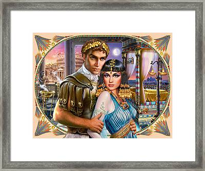 Anthony And Cleopatra Framed Print by Andrew Farley