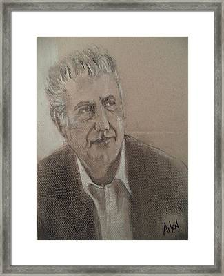 Anthony Bourdain Framed Print