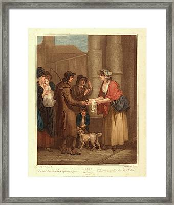 Anthony Cardon After Francis Wheatley, British 1772-1813 Framed Print by Litz Collection