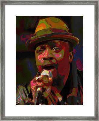 Anthony Hamilton Framed Print by  Fli Art