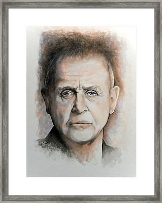 Anthony Hopkins Framed Print by William Walts