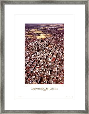 Anthony Howarth Collection - Gold - Mining Town - J'oburg Framed Print by Anthony Howarth