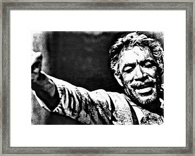 Anthony Quinn As Zorba Framed Print