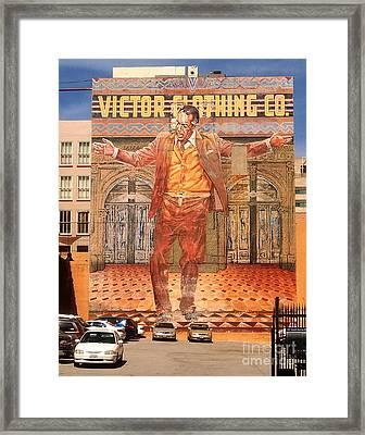 Anthony Quinn Mural Framed Print by Gregory Dyer