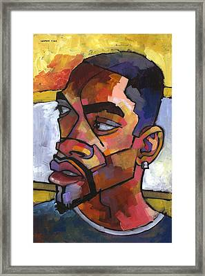 Anthony Waiting In The Car Framed Print by Douglas Simonson