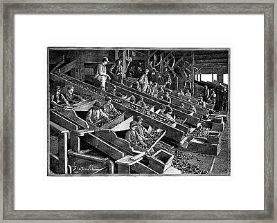 Anthracite Coal Industry Framed Print by Science Photo Library