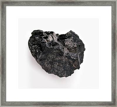 Anthracite Framed Print