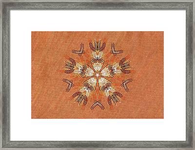 Anthropomorphic Mandala Framed Print by Hakon Soreide
