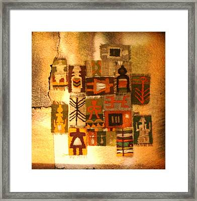 Anthropomorphic Signs Framed Print