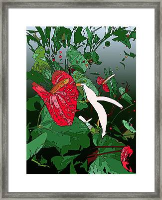 Anthuriums Framed Print by Stacy Vosberg
