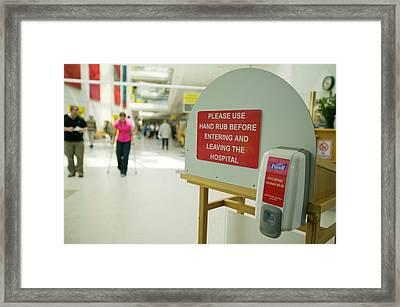 Anti Bacterial Hand Wash Framed Print