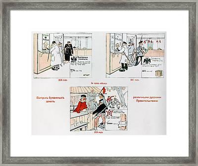 Anti-bolshevik Cartoon Framed Print by Granger