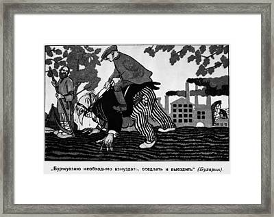Anti-capitalist Cartoon Framed Print by Granger