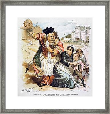 Anti-catholic Cartoon, 1889 Framed Print by Granger