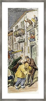 Anti-chinese Riot, 1880 Framed Print by Granger