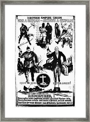 Anti-german Poster Framed Print by Granger