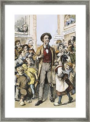 Anti-immigrants Cartoon Framed Print by Granger
