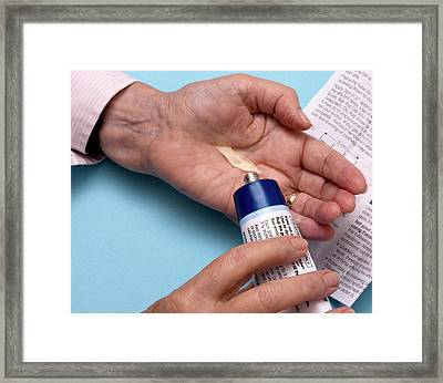 Anti-inflammatory Gel Framed Print