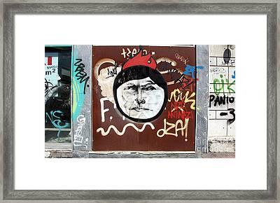 Anti Nazi Graffiti Athens Framed Print by Ros Drinkwater