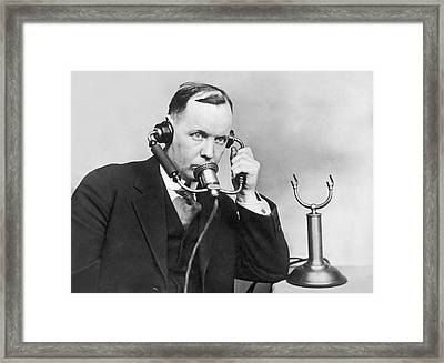 Anti Noise Telephone Framed Print by Underwood Archives