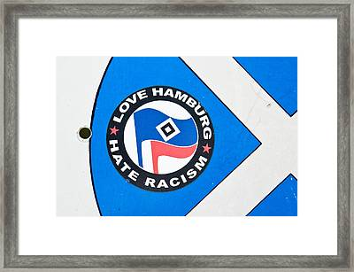 Anti-racism Sticker Framed Print by Tom Gowanlock