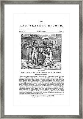 Anti-slavery, 1835 Framed Print by Granger