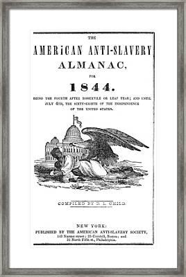 Anti-slavery Almanac, 1844 Framed Print by Granger