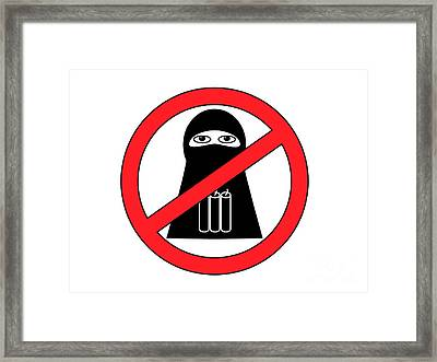 Anti Terrorist Sign Framed Print by Aleksey Tugolukov