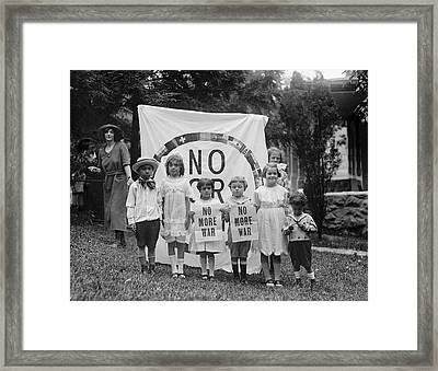 Anti-war Protest, 1922 Framed Print by Granger
