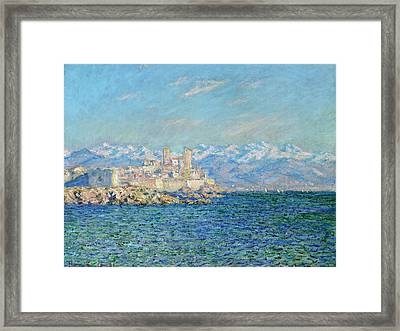 Antibes - Afternoon Effect Framed Print by Claude Monet