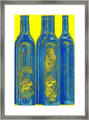 Antibes Blue Bottles Framed Print by Ben and Raisa Gertsberg