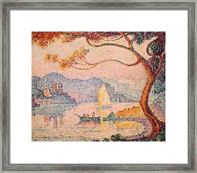 Antibes  Petit Port De Bacon Framed Print by Paul Signac