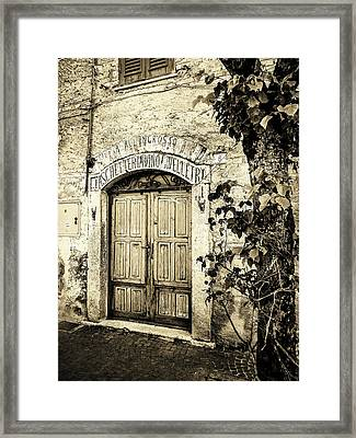 Antica Bottega B/w Framed Print