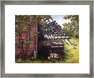 Anticipation - Farm Life Framed Print