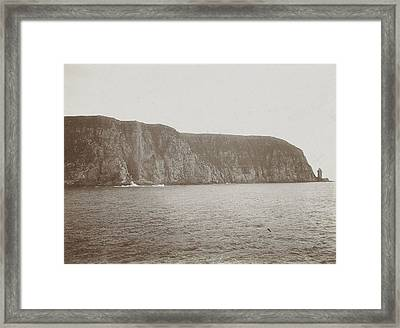 Anticipation Cliff Into The Sea Fiord In Norway Framed Print