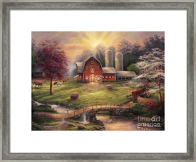 Anticipation Of The Day Ahead Framed Print by Chuck Pinson