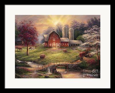 Farming Paintings Framed Prints