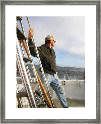 Anticipation Of The Day's Catch Framed Print