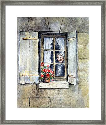Framed Print featuring the painting Anticipation by Rosemary Colyer